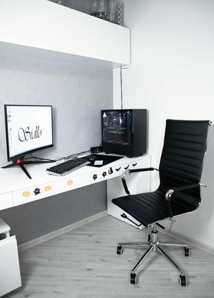 Офісне крісло Офисное кресло Sidlo Slim Black