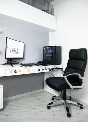 Офісне крісло компютерне офисное кресло Sidlo Leader