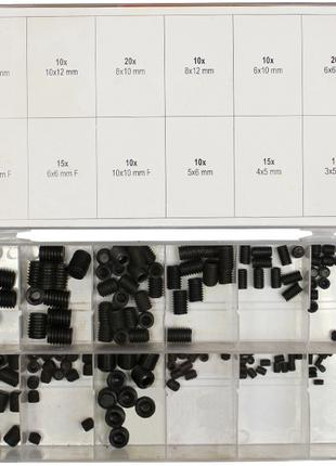 Набор из 160 винтов 3-10мм под внутренний шестигранный ключ Yato
