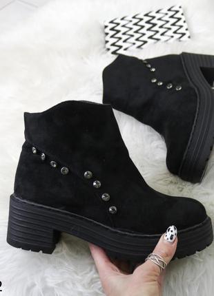Ботинки женские на каблуке зимние