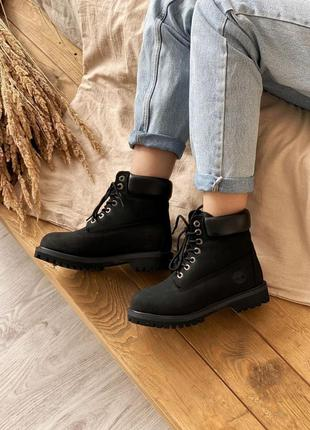 Ботинки timberland 6 inch premium black черевики