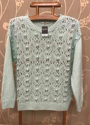 Очень красивый и стильный брендовый свитер-оверсайз.