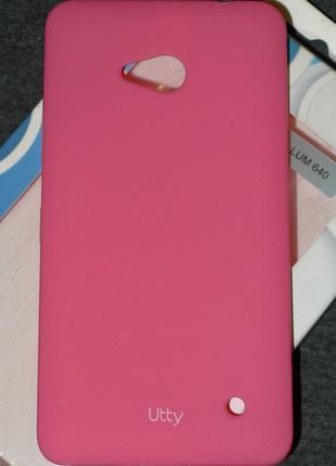 Чехол Utty для Microsoft 640 Lumia розовый 0190