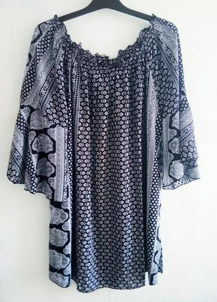 Свободная открытые плечи блуза
