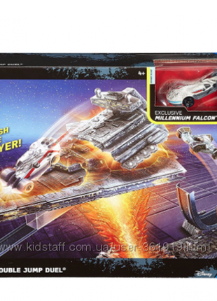 Звездные Войны Хот Вилс трек Hot Wheels Millennium Falcon Carship