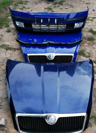 Капот рішотка обезшумка Skoda octavia A5  FL Крило  октавія шрот