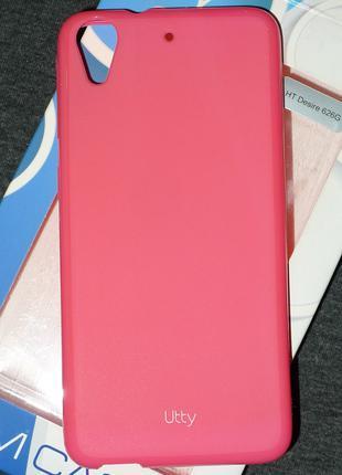 Чехол Utty для HTC Desire 626g розовый 0207