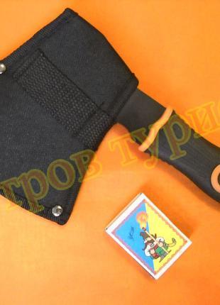 Топор туристический тактический Black Orange с чехлом