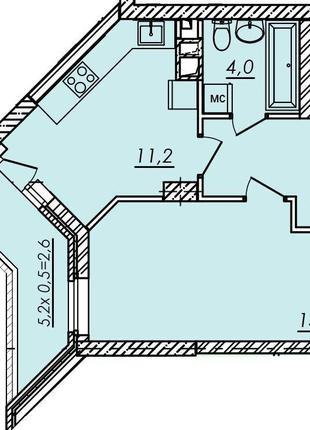 В продаже однокомнатная квартира в готовом доме