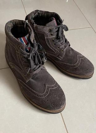 Мужские зимние ботинки премиум бренд германии marc размер 41-42