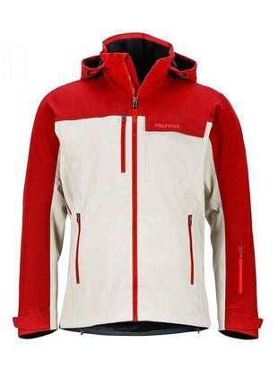 Куртка чоловіча marmot storm king jacket m pebble-brick white-red