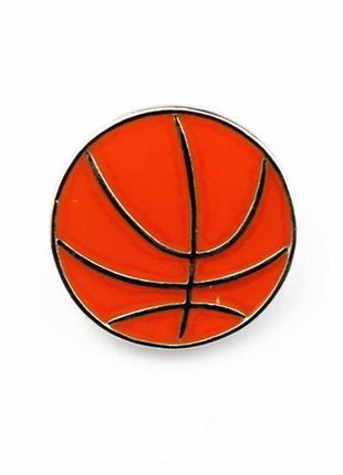 Брошь «Баскетбольный мяч» - стильное, ювелирное украшение для бас