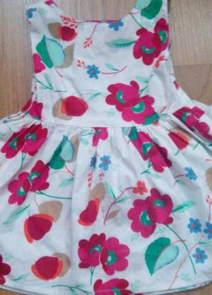 Летнее нарядное платье для девочки (на 1 - 2 года)