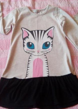 Красивое платье - туничка для девочки (4-5 лет)