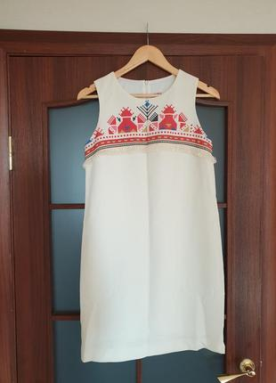 Платье nenka молочного цвета