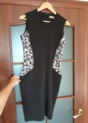 Черное приталенное платье nenka