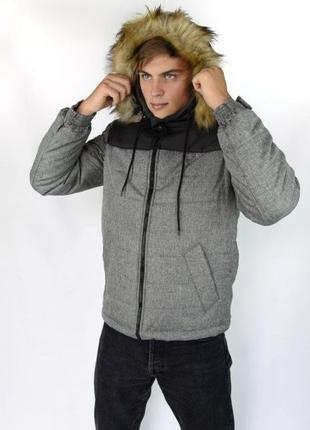 Парка мужская зимняя Аляска   куртка зимняя с капюшоном теплая
