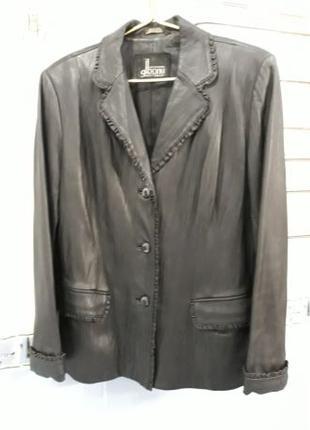 Кожаный пиджак 48 размер