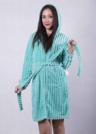 Женский домашний халат. халаты домашние пушистые