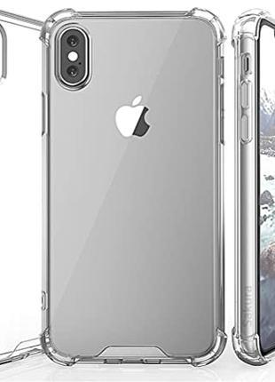 Противоударный прозрачный чехол iPhone XS