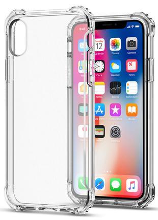 Противоударный прозрачный чехол iPhone X