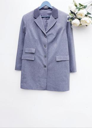 Удлиненный пиджак жакет длинный блейзер в стиле винтаж большой...