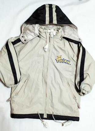 Детская куртка pokemon на мальчика на 5-6 лет