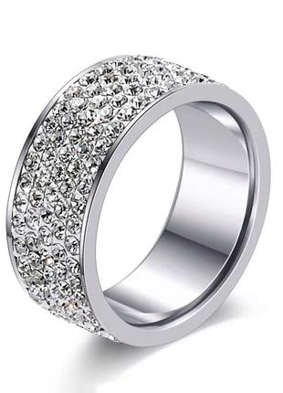 Новое кольцо каблучка колечко серебро с камнями