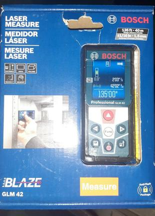Лазерный дальномер, рулетка Bosch BLAZE GLM 42 Professional