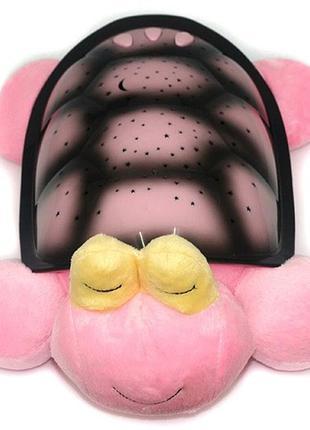 Проектор звездного неба, ночник черепаха кетти розовая