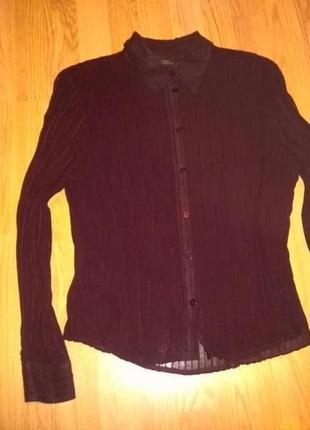 Блуза-рубашка,цвет марсала