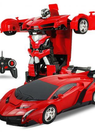 Игрушка машинка трансформер робот на пульте управления автобот