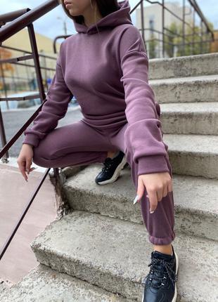 Спортивный костюм женский костюм теплый костюм на флисе толстовка
