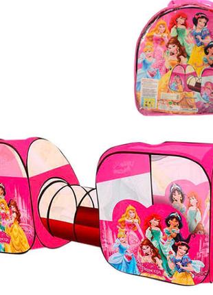 Детская игровая палатка с тоннелем M 3776 Принцессы Дисней