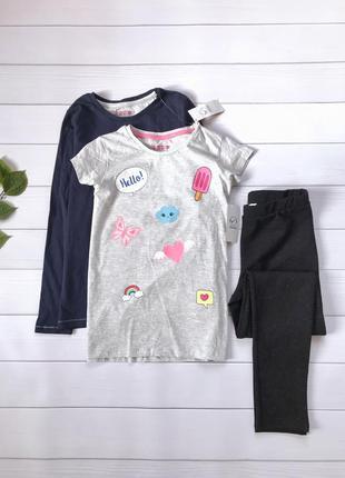 Набор футболка и реглан для девочек