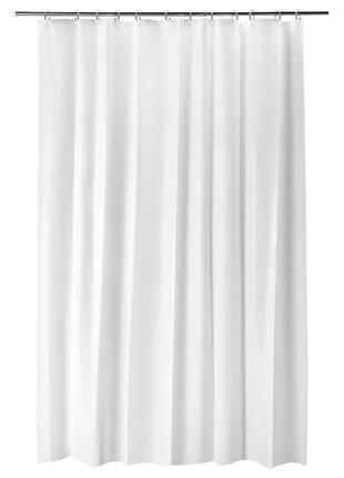 Шторка для ванной и душа IKEA 180x200 см белая