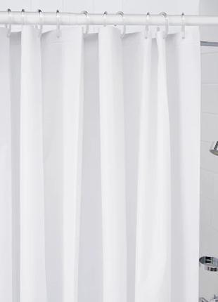 Шторка для ванной и душа с кольцами и штангой 180x200 см IKEA