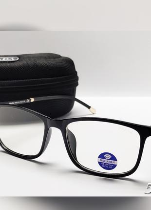 Мужские компьютерные имиджевые очки с футляром