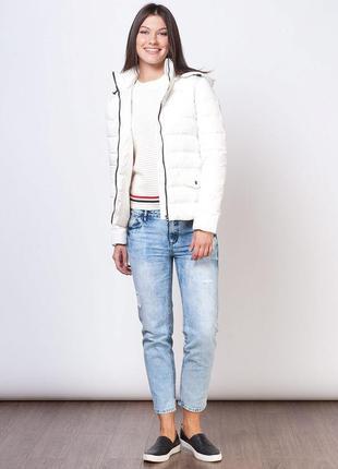 Пуховик женский белый куртка пуховая жіночий куртка пухова s