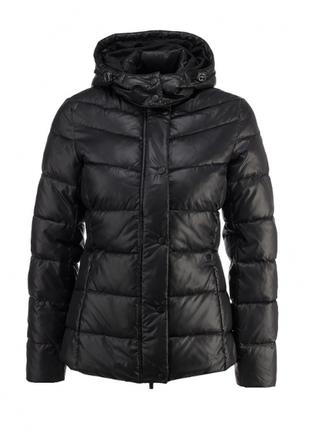 Пуховая черная куртка женская incity жіноча пухова пуховик