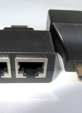 Пассивный экстендер LAN удлинитель HDMI по двум витым парам RJ-45