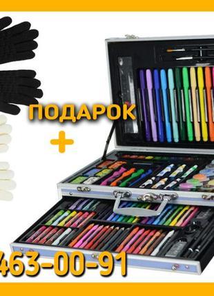 Детский набор для рисования, творчества + Зимние перчатки