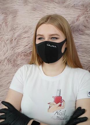 Многоразовая Защитная Угольная Питта Маска ULKA, Черная, PM2.5