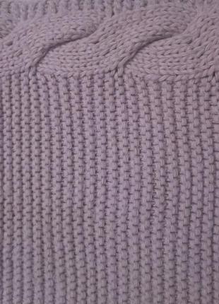 Снуд,шарф,крупная вязка. цвет пудра.