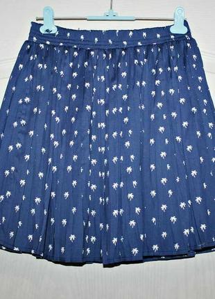Плиссированная летняя юбка в принт