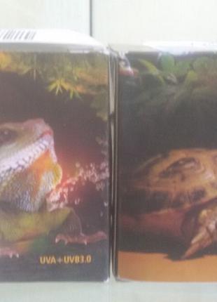 Для всех видов черепах и агам: лампа(лампочка) уф с обогревом,...