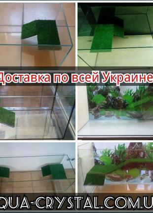 Новый террариум (аквариум), мостик, островок для черепахи,агам...