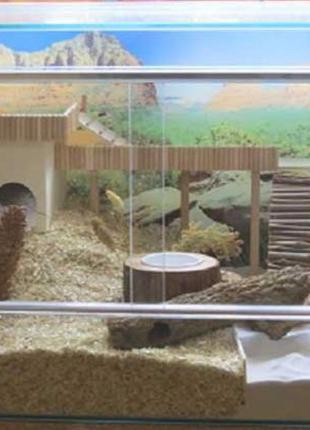 Шикарный террариум для грызунов: хомяка, крышы, морской свинки.