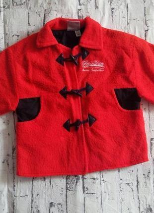 Дафлкот пальто-кофта,жакет на 2-4года charlton