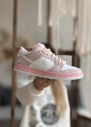 Кроссовки nike dunk sb low pink код 3134